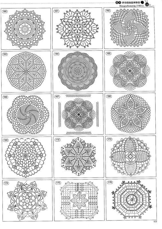 crochet 5 | cuadrados y flores crochet | Pinterest | Patrón gratis ...