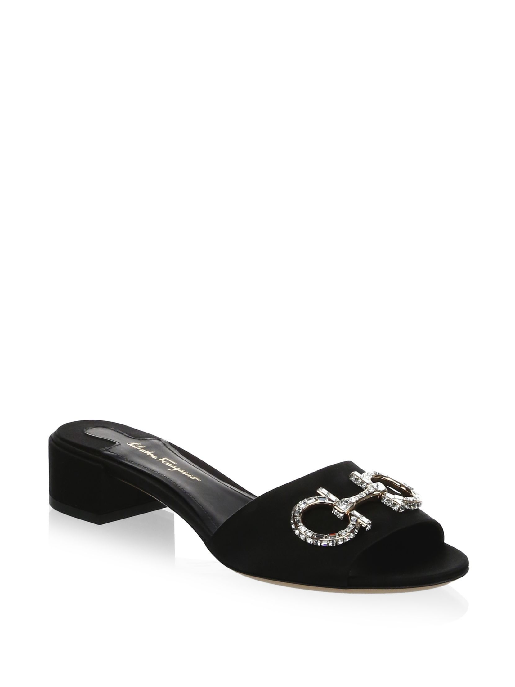 Salvatore Ferragamo embellished Lampio mules latest collections cheap online huge surprise online real cheap online a86TgUGm