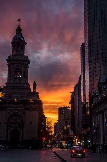 atardecer en Santiago Chile Google+