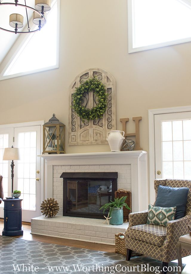 Fireplace Makeover Before And After | Mantle, Bricks and Doors