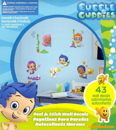 Bon BUBBLE GUPPIES Wall Stickers 44 Decals Bubbletucky Deema Gil Oona Deema  Decor