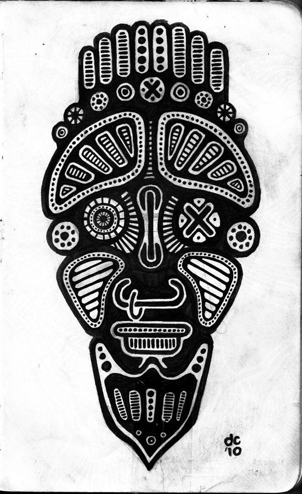 Maya Head - Sketchbook -www.darylcampbell.com