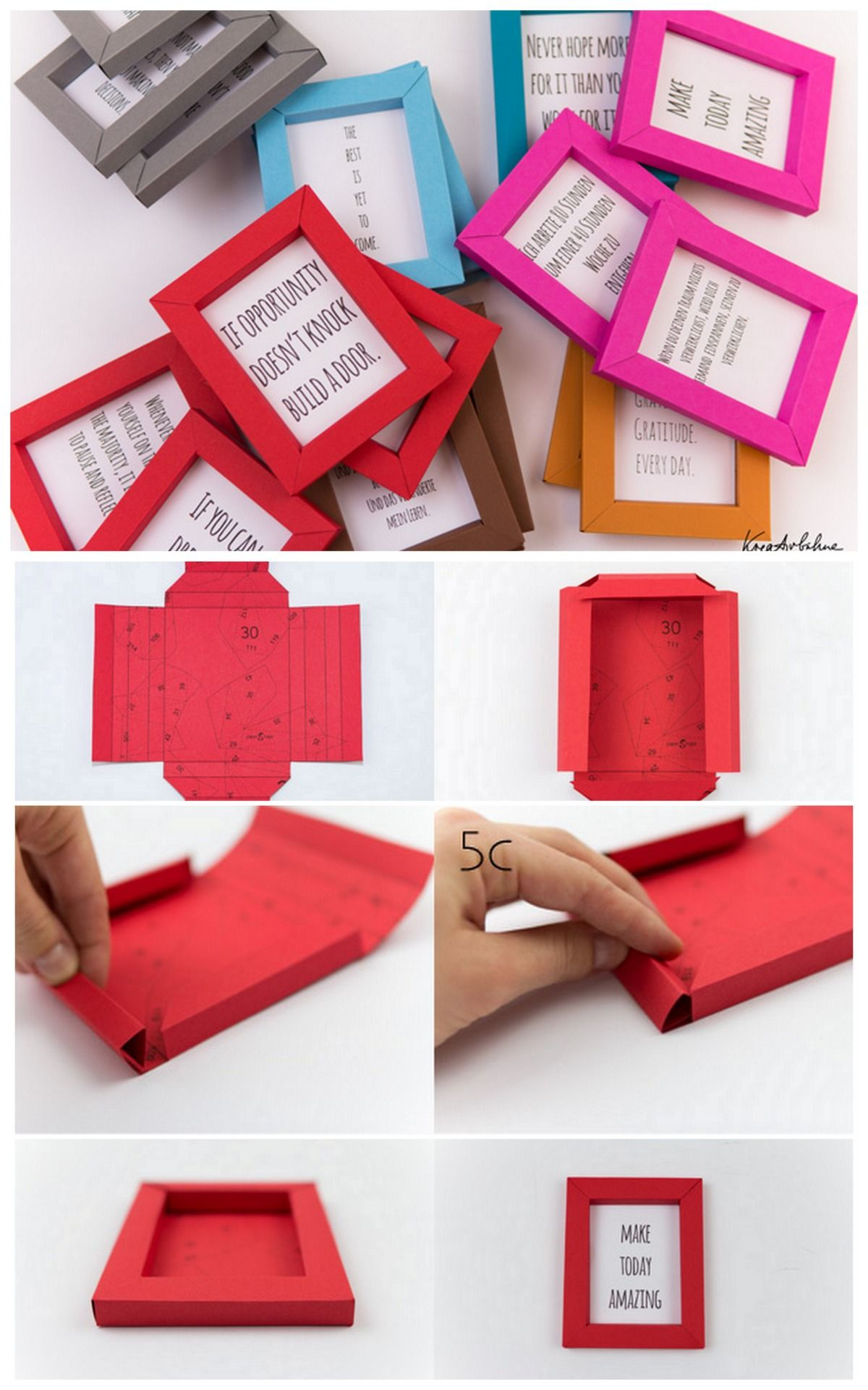 Diy Paper Frame Tutorial And Printable From Kreativbuehne These