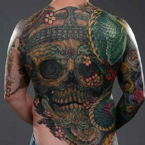 Tibetan colored skull tattoo tats and flash pinterest for Color skull tattoos
