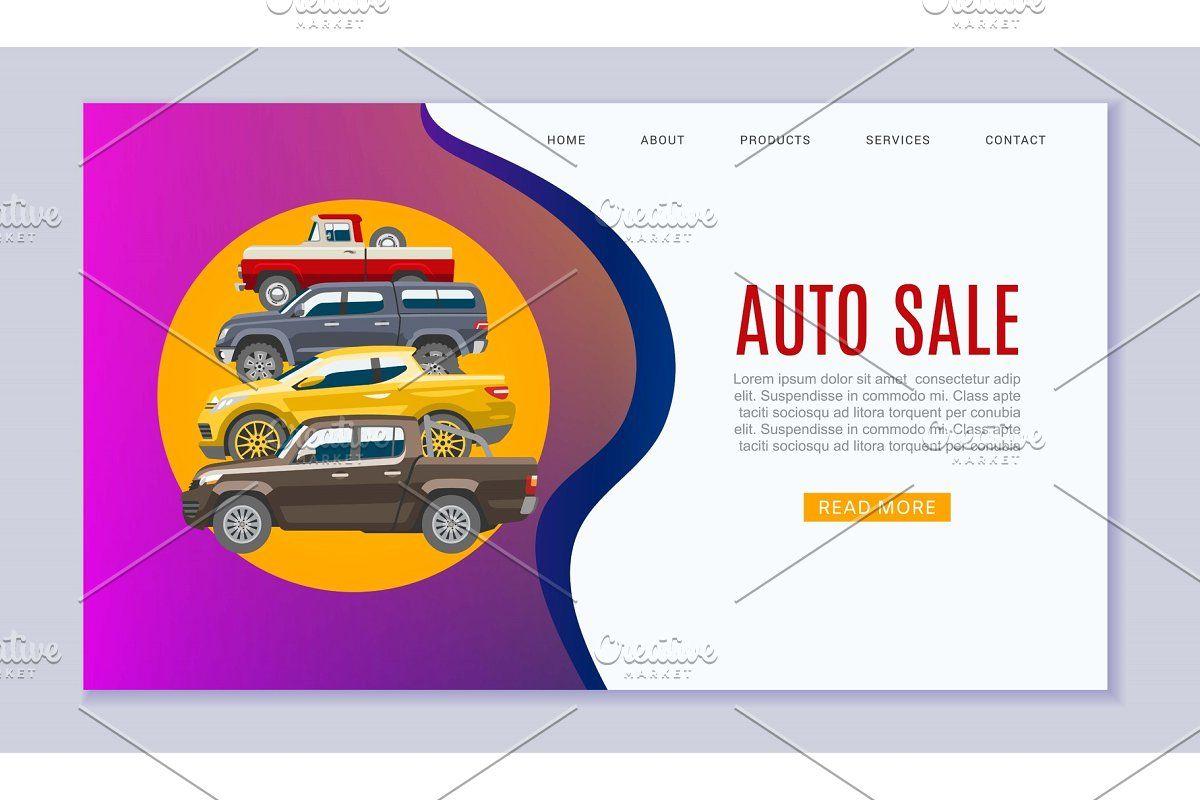 Vector Car Sale Auto Automobile Buy Rent Web Vehicle