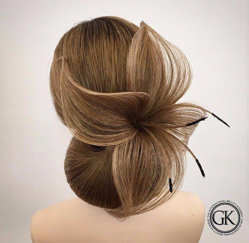 Pricheski Wedding Hairstyle Hair Hair Styles Artistic Hair Competition Hair