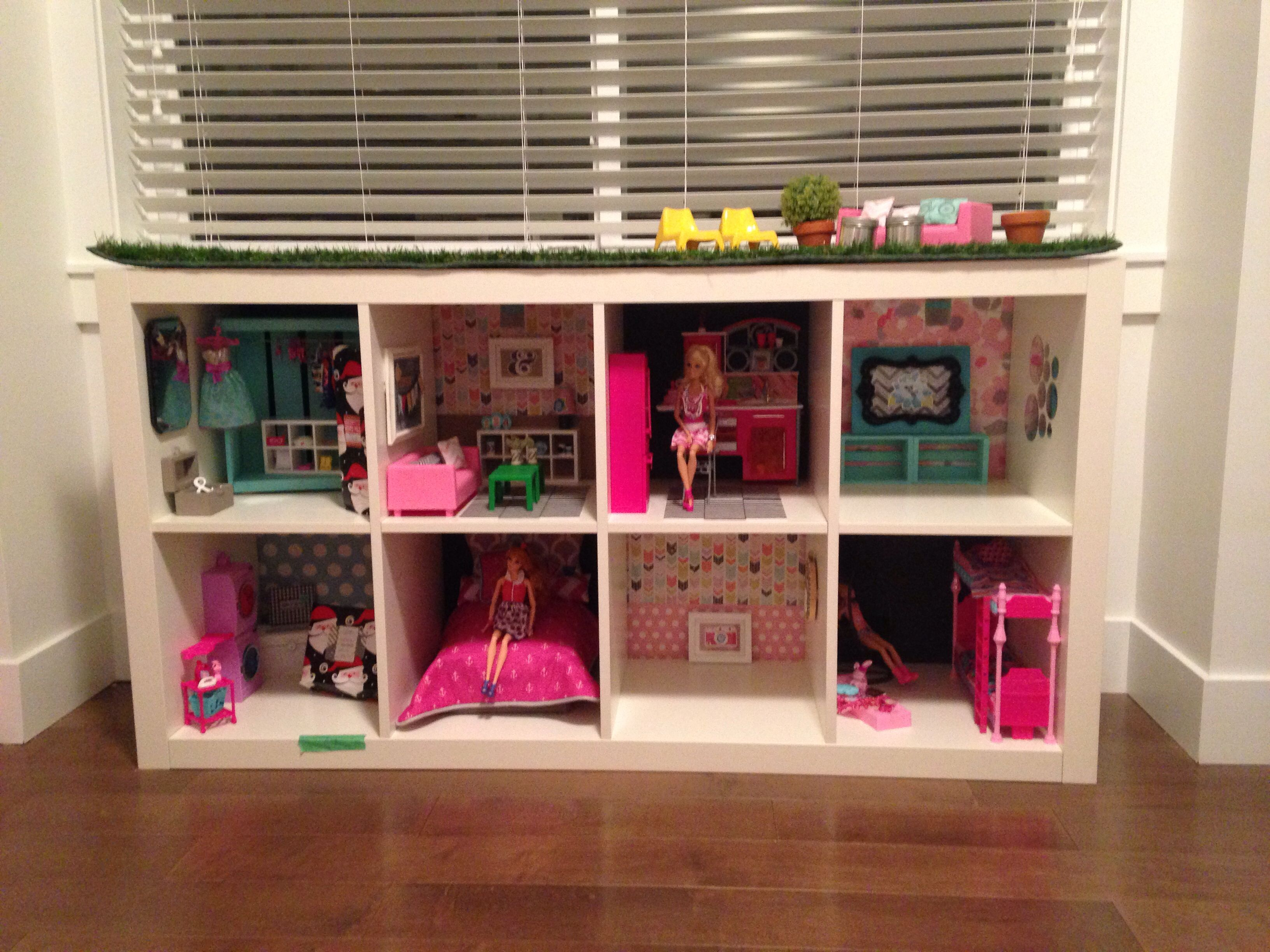 Sage's Dreamhouse. Created out of an Ikea Expedit shelf