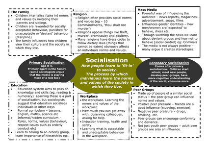 A Sociology Ocr Culture Socialisation And Identity Teaching Economics Essay Question On Family