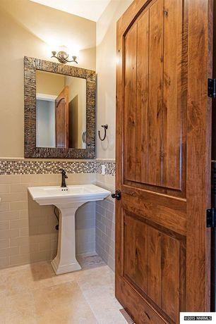Rustic Powder Room With Memoirs Stately 24 Pedestal Bathroom Sink