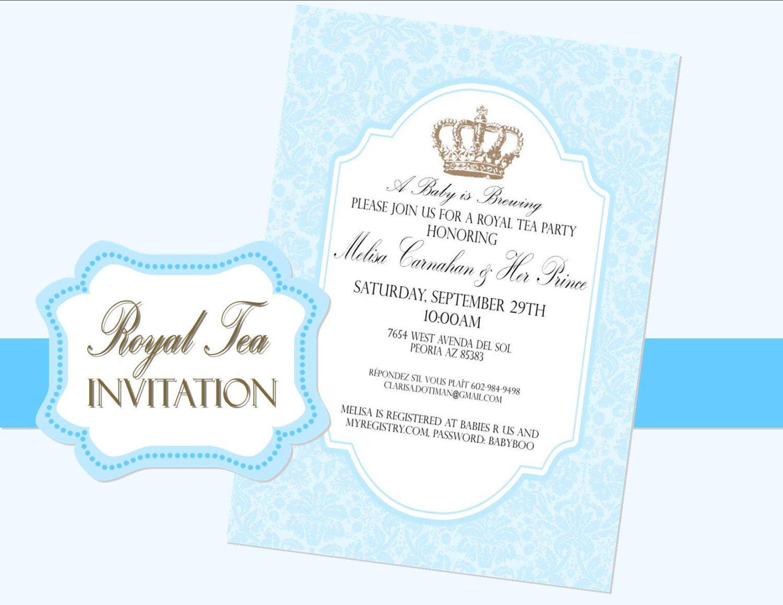 ROYAL PRINCE Party INVITATION Prince Invite by KROWNKREATIONS – Prince Party Invitations