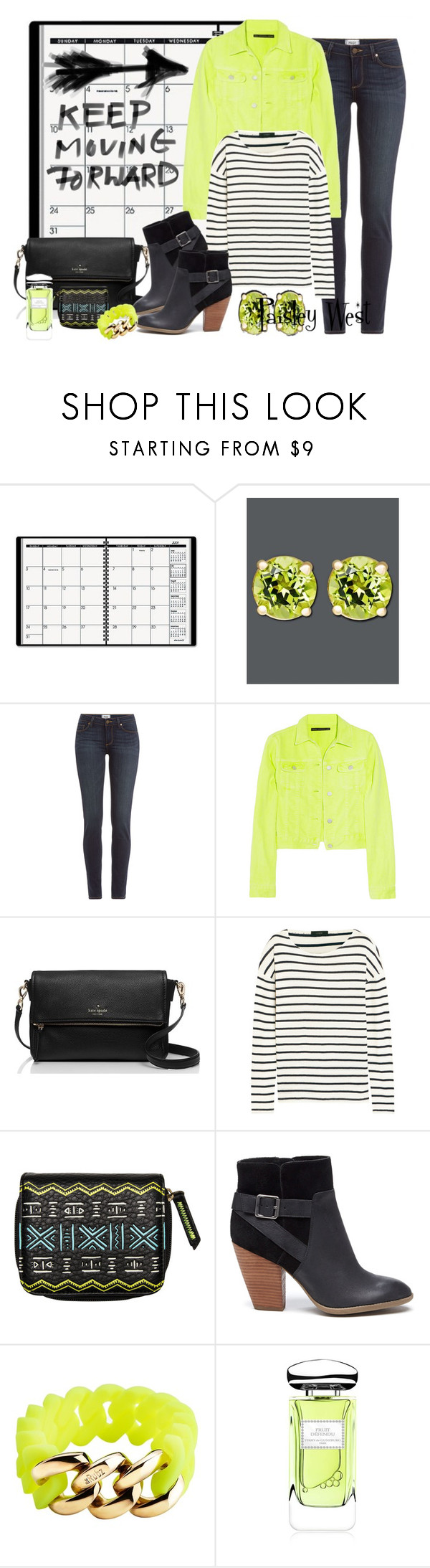 """""""Forever A Memory"""" by paisleywest ❤ liked on Polyvore featuring ACCO, Paige Denim, Christopher Kane, Kate Spade, J.Crew, Billabong, Sole Society, The Rubz and Terry de Gunzburg"""