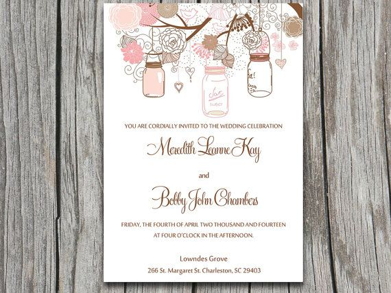 DOWNLOAD Love Birds, Flower, Hearts, Tree Wedding Invite Microsoft - ms word invitation templates