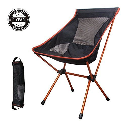 Introducing Ultralight Portable Camping Chair With Comfortable High Back And A Carrying Bag Orange Gr Portable Camping Chair Camping Chairs Portable Table Saw