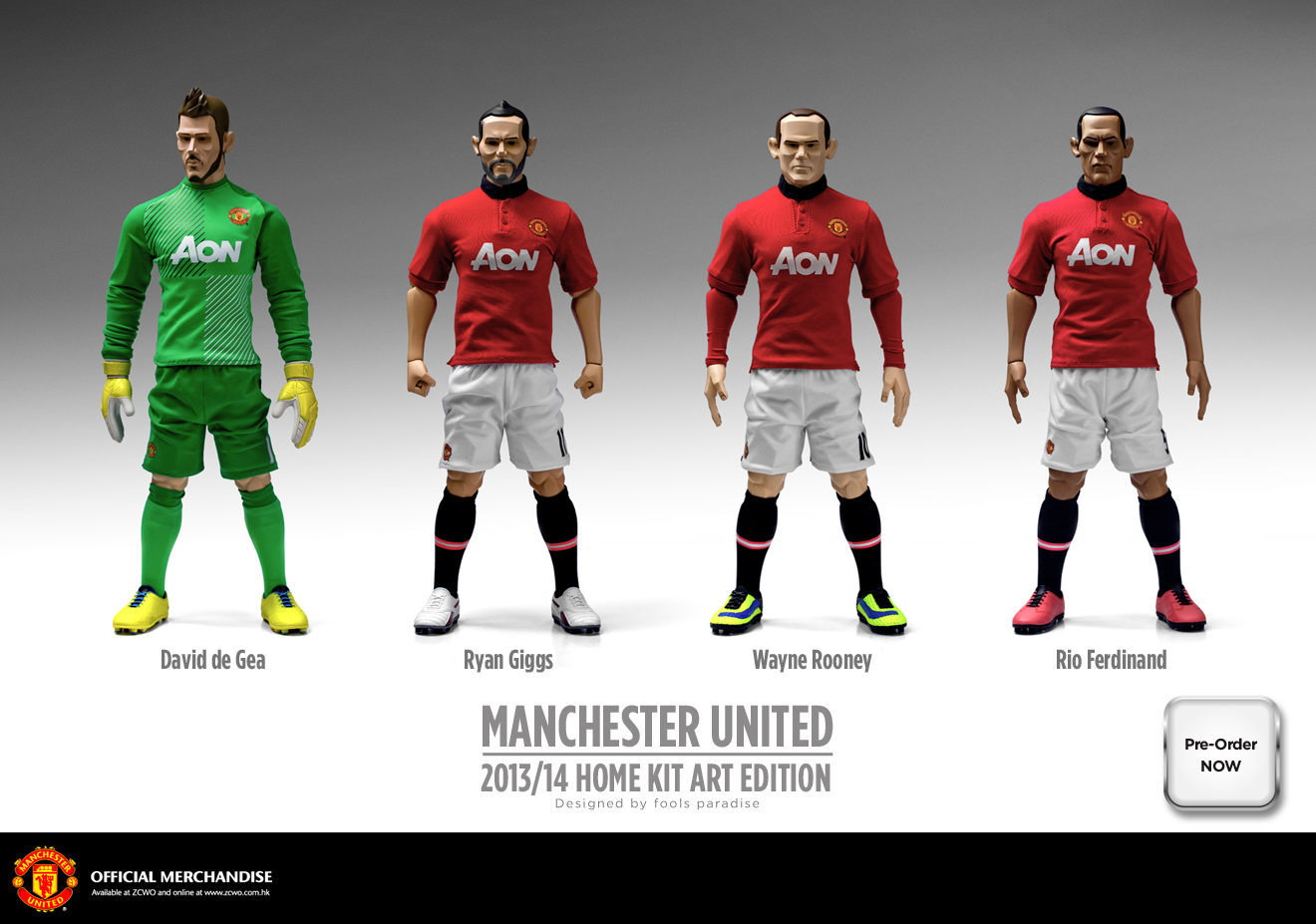 7ded6943470 Manchester United 1:6 Art Edition Figure 2013/14 Away Kit | Sports