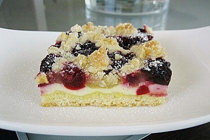 Kase Kirschkuchen Vom Blech Yummy Pinterest Kuchen