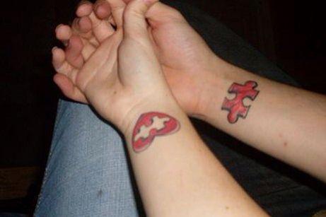 puzzle piece couple tattoo! | tattoo ideas | pinterest | tattoos
