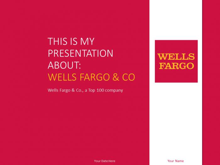 Wells Fargo Powerpoint Template Red Presentationgo Top 100