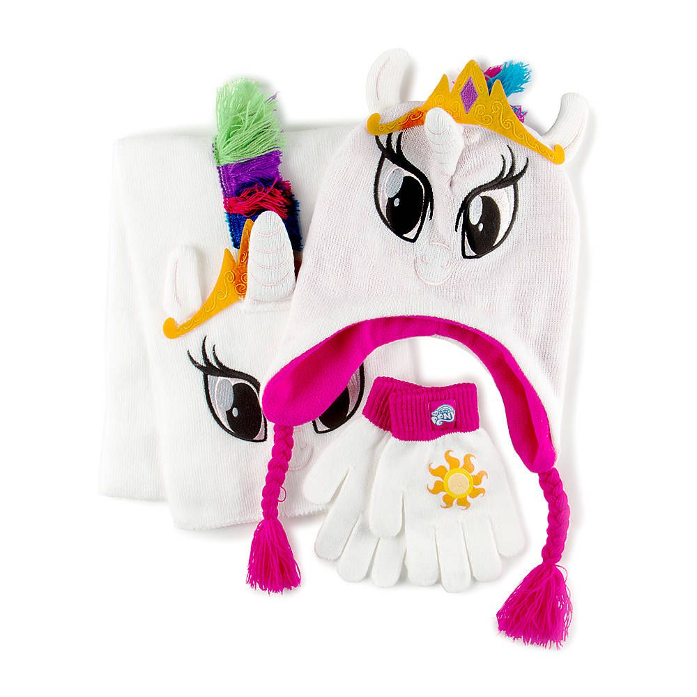 My Little Pony Princess Celestia Trapper Hat Scarf And