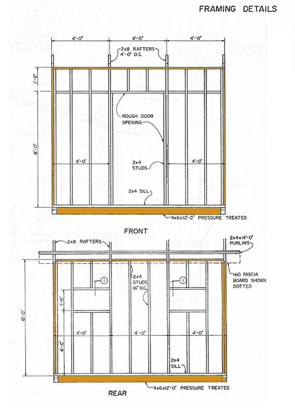 10 12 Lean To Storage Shed Plans How To Construct A Slant Roof