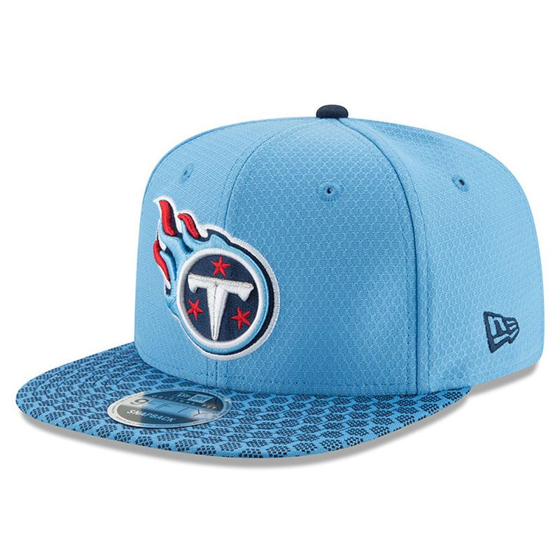 5350e41e8 Tennessee Titans New Era 2017 Sideline Official 9FIFTY Snapback Hat - Light  Blue