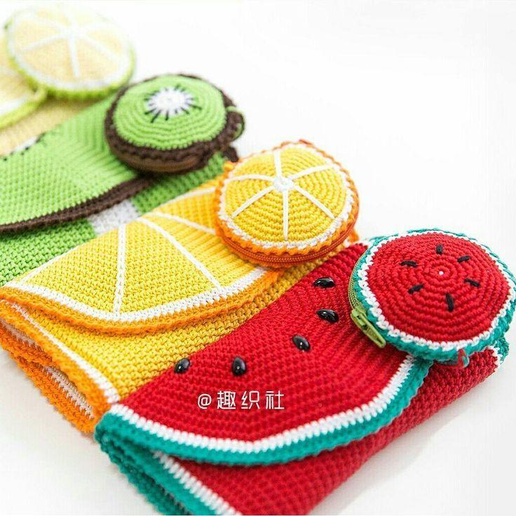 Lindas Imágenes de crochet frutas - YouTube | Uncinetto tutorial ... | 736x736