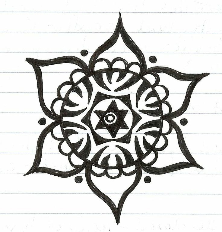 How To Draw Easy Mandala Flower Yahoo Image Search Results
