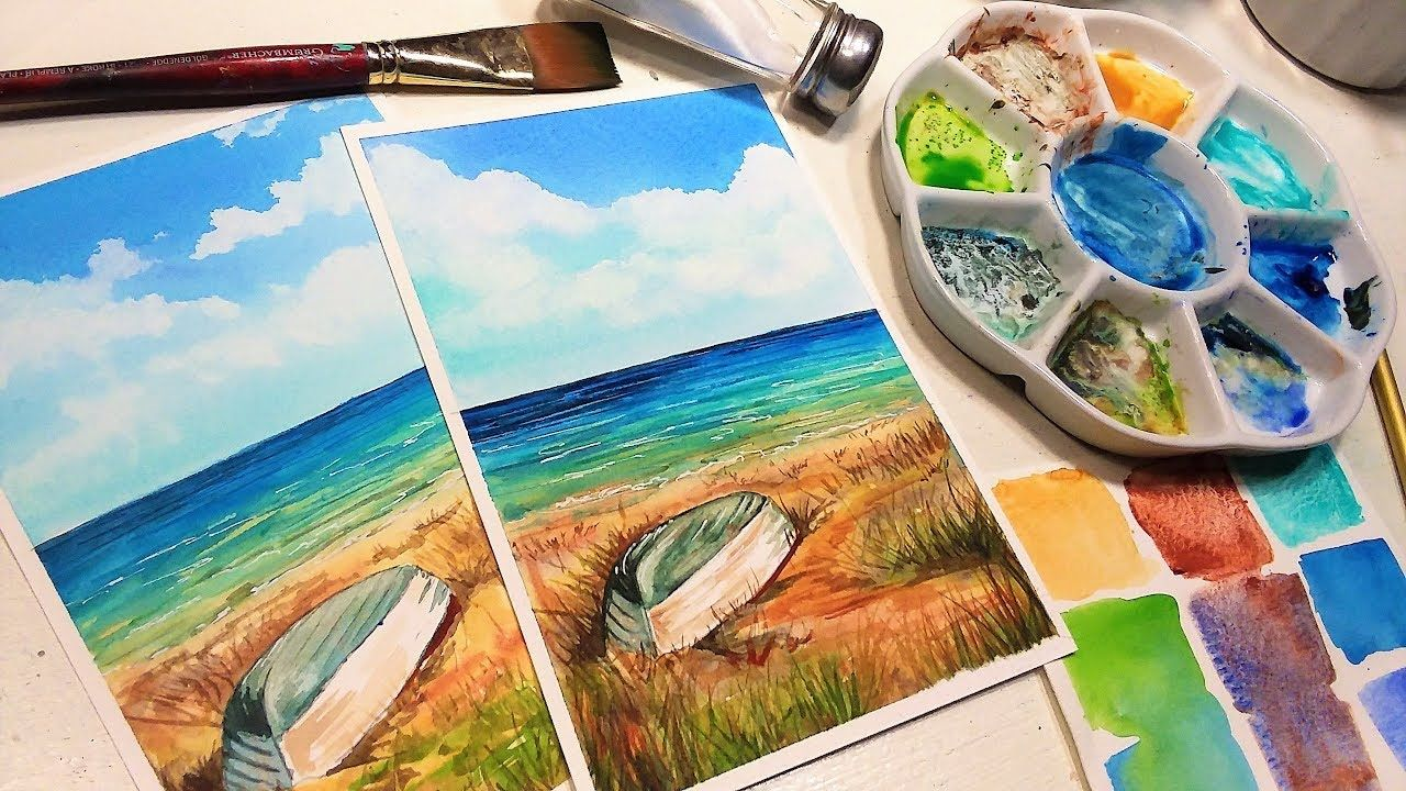 What Happens When You Paint With Saltwater Youtube Watercolor