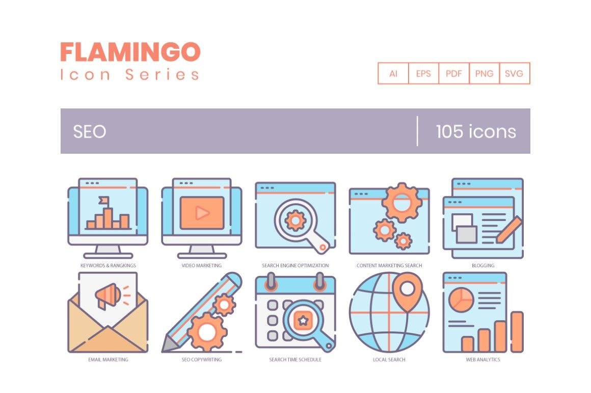 105 Seo Icons