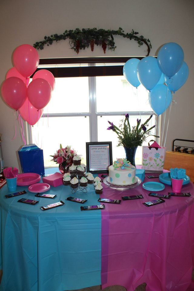 0b51c1e81 A beautiful way to set up your table for a gender reveal party! Baby Shower  ...