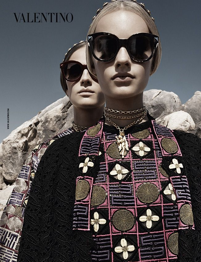A shot of the Valentino S/S 2014 advertising campaign. Photographer: Craig McDean.