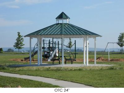 Octagon Hip Roof Park Shelter Hip Roof Shade Structure Outdoor Structures
