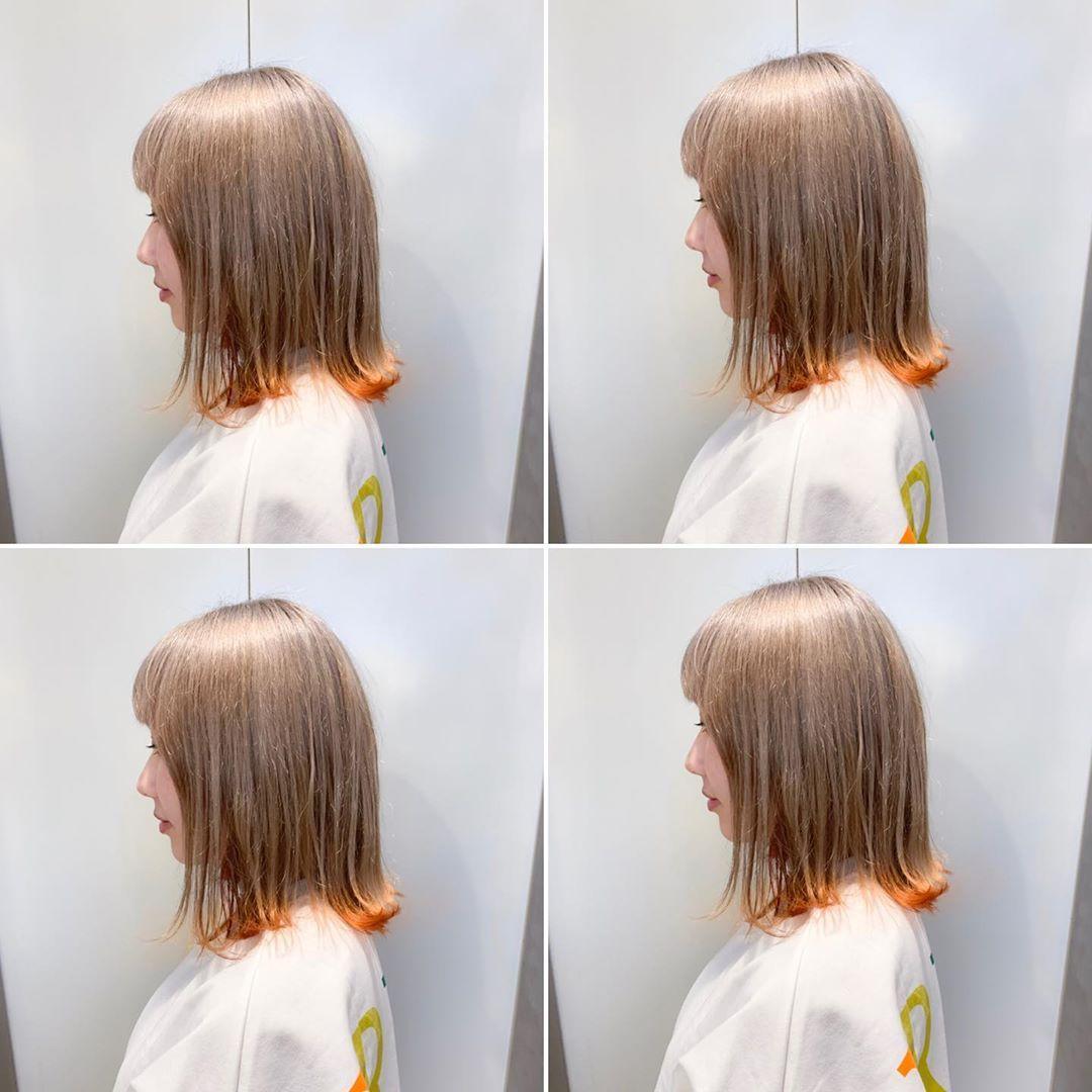 Kuma 寒色系カラー ハイトーンカラー On Instagram Beige Orange
