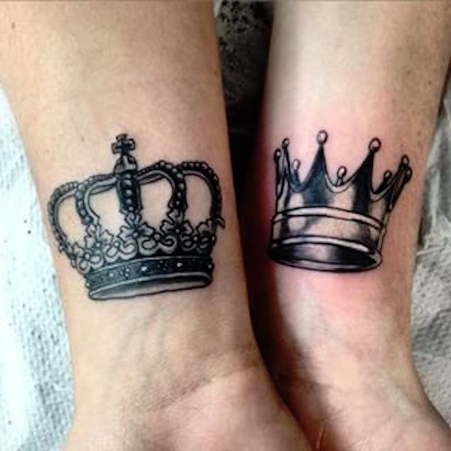 40 King & Queen Tattoos That Will Instantly Make Your ...