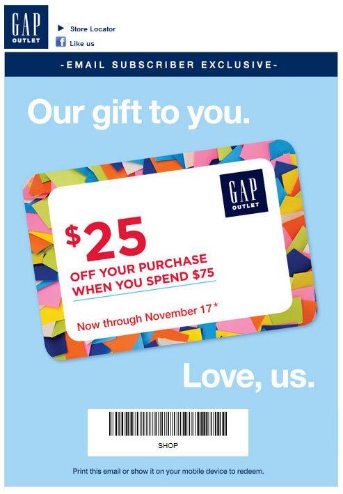 gap outlet cash back promo for holiday 2013 coupon. Black Bedroom Furniture Sets. Home Design Ideas