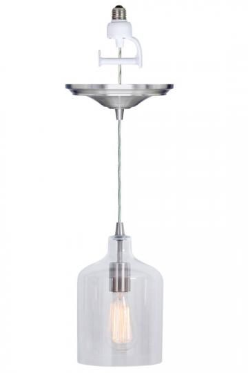 Home Decorators Collection Ryder 1 Light Clear Instant Pendant Conversion Kit 0888100420 In 2020 Screw In Pendant Light Pot Lights Pendant Lighting