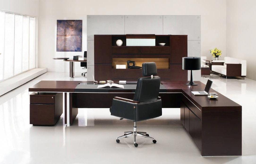 Professional Office Desk Sleek Modern Desk Executive Desk