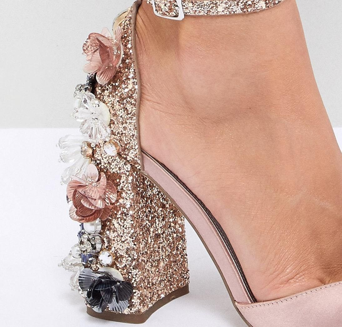 5c75c903f153 DESIGN Passionate Embellished High Heels | Wizz | Asos, High heels ...