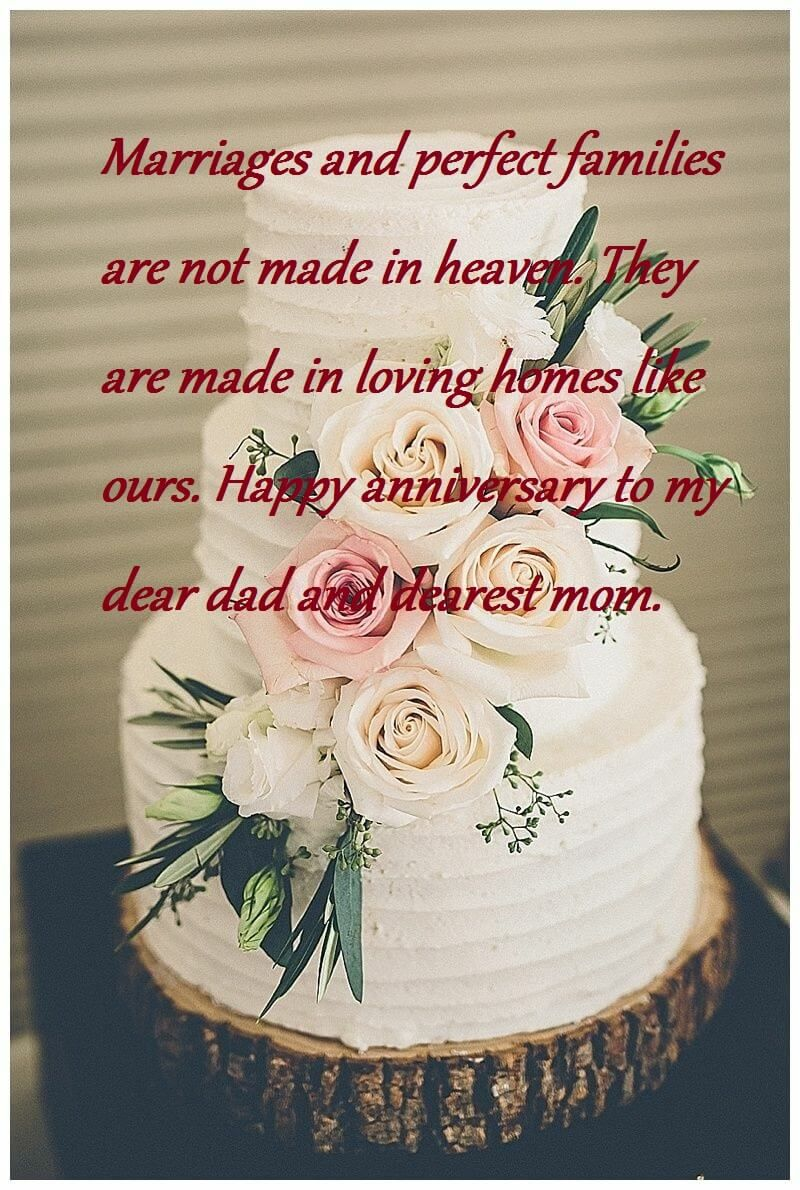 Happy Wedding Anniversary Cake For Mom And Dad Anniversary