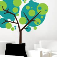 How about a mix of trees?  There's something very appealing about this to me!
