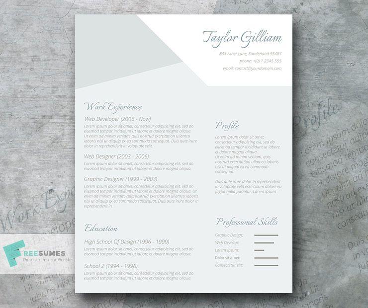 Subtle Resume Freebie - The Intelligent Applicant Creativity - generic resume template