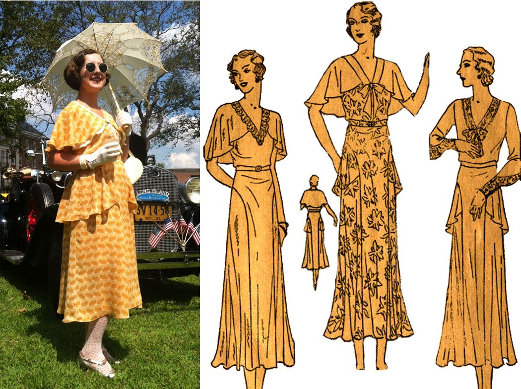 1930 Tea Frocks Vintage Outfits 1930 S Dresses Girls Party Dress [ 784 x 1050 Pixel ]