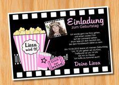 Kino Einladungskarten Zum Ausdrucken   Vorlagen, Kreative Einladungen