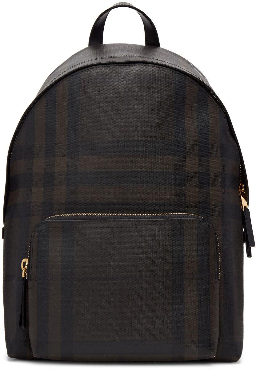 d176cc5b50b4 Burberry - Brown Abbeydale London Check Backpack