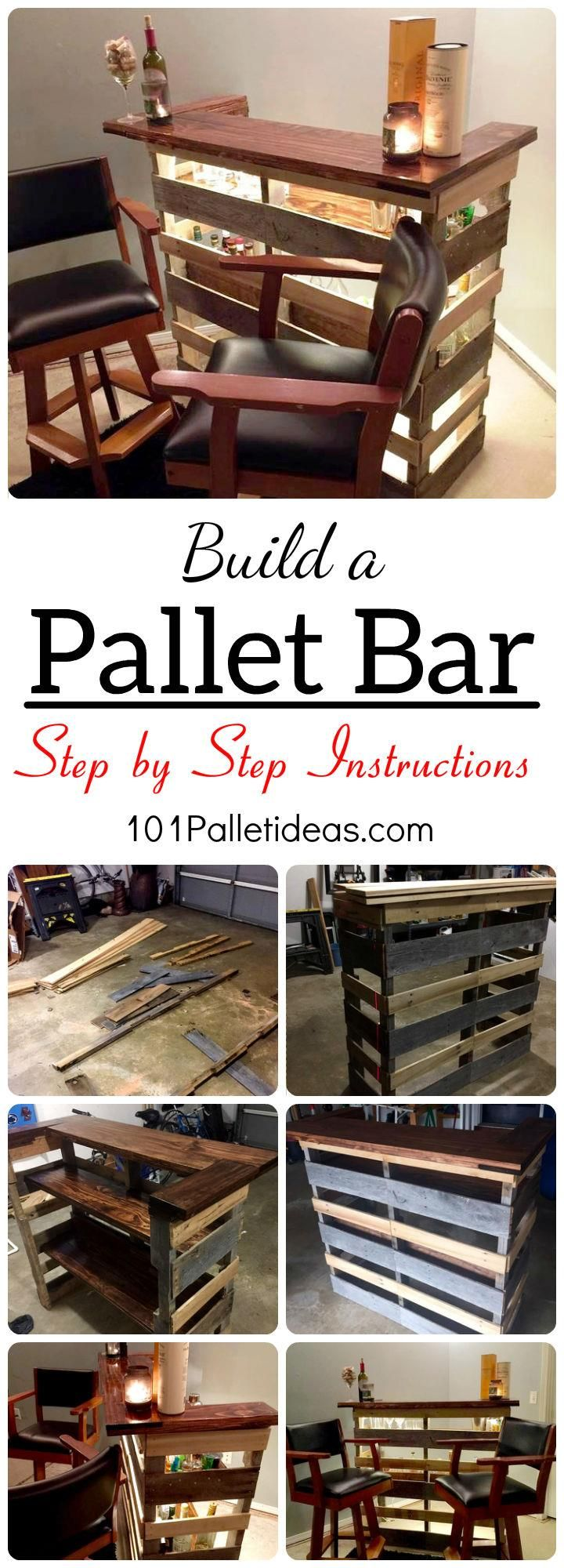 Pallet bar step by step instructions 101 pallet ideas for Diy pallet projects with instructions