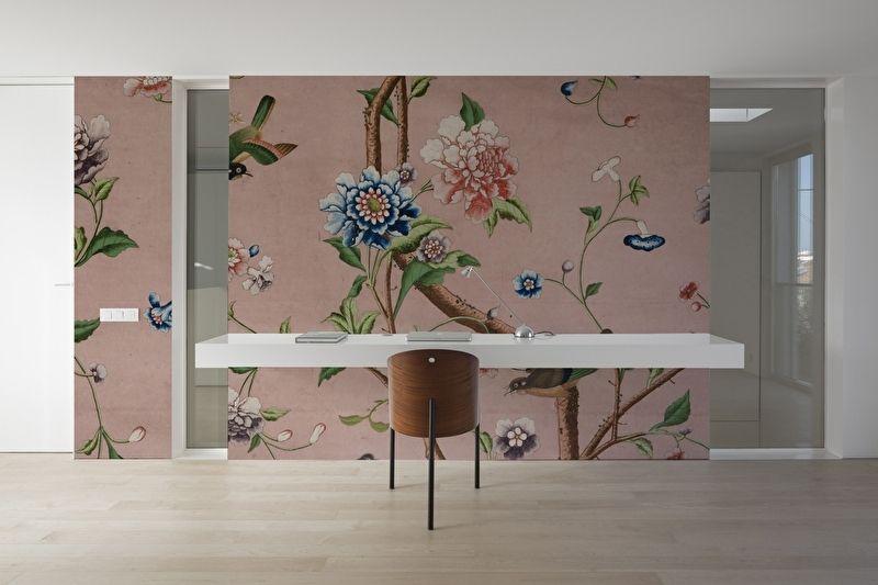 Behang Slaapkamer Romantisch : Chinoiserie roze cm romantisch interieur