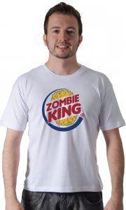 Camiseta Namorado Geek Zombie King - Camisetas Personalizadas, Engraçadas e Criativas
