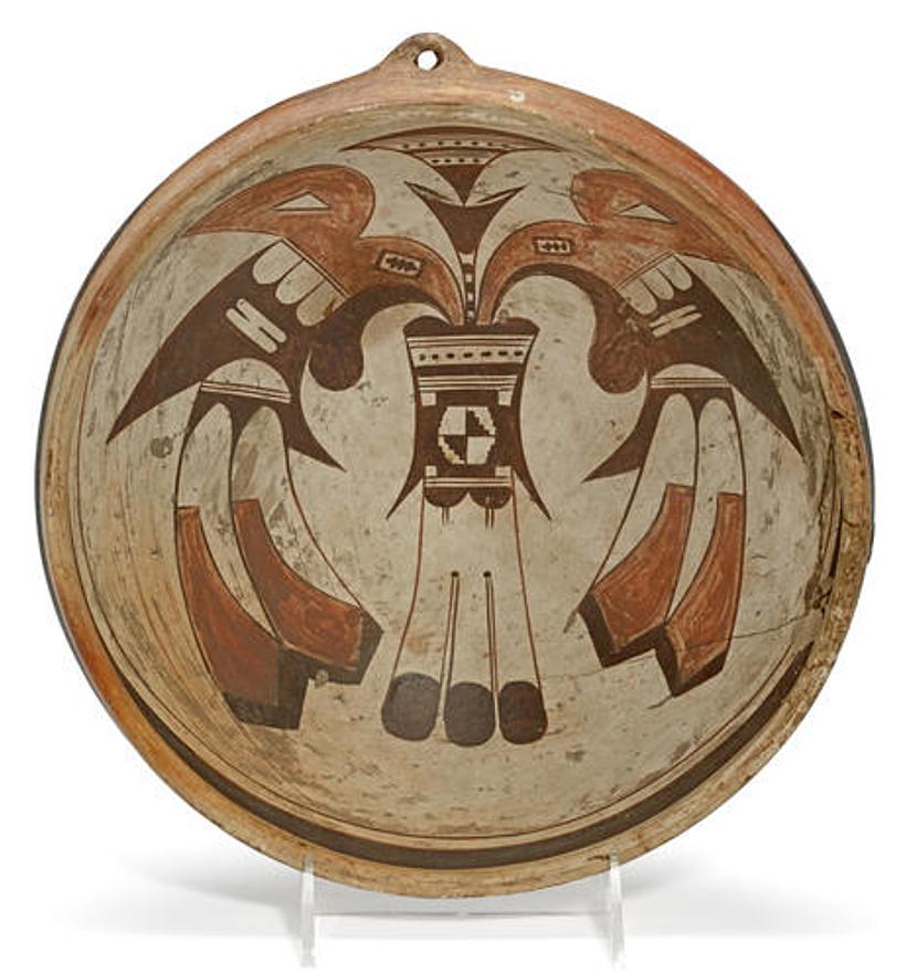 A Hopi polychrome bowl Probably the work of Nampeyo.