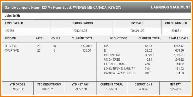 6 free pay stub templates online simple salary slip in