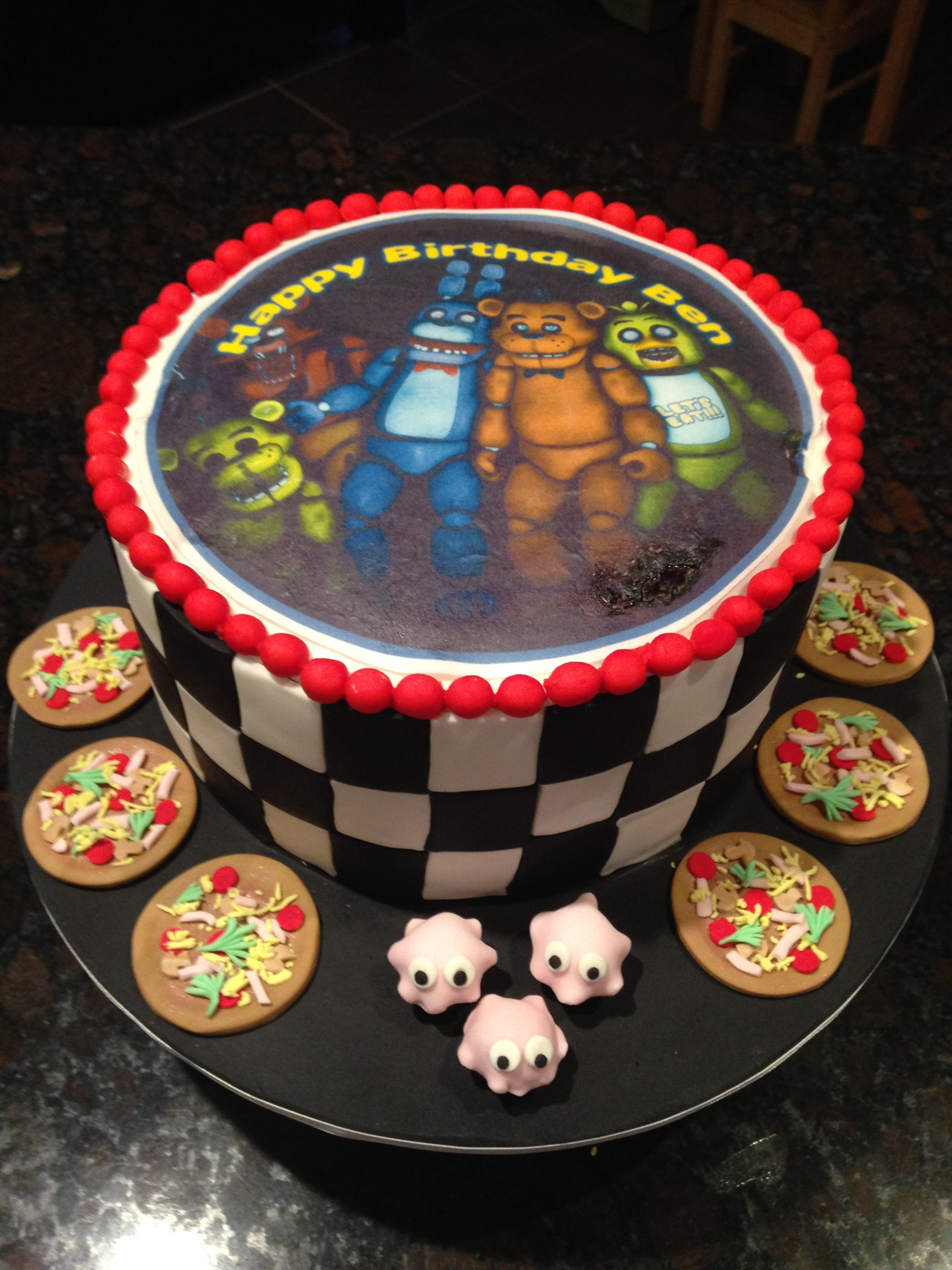 Five nights at freddys birthday cake fnaf cake five