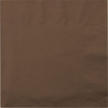 "Brown Lunch Napkins, 13"", 20-ct. Pack"